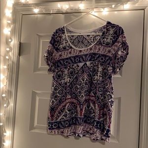 Lucky Brand Patterned Tee